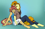 adagio_dazzle anthro mustlovefrogs shipping sunset_shimmer