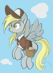 bag clothes derpy_hooves flying hat highres letter letters noupu1115