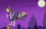 broom costume halloween imp-oster magic owlowiscious spike twilight_sparkle