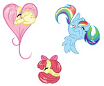 apple_bloom bamboodog fluttershy rainbow_dash