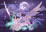 absurdres highres mare_in_the_moon moon princess_celestia shore2020 stars tears