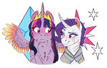 absurdres earthsong9405 highres princess_twilight rarilight raritwi rarity shipping twilight_sparkle