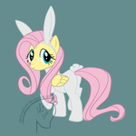 angel bunny_suit costume fluttershy halloween highres sterlingsilver