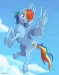 absurdres cloud flying highres rainbow_dash sydneyitssydneyyo