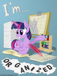 abacus absurdres book calendar highres princess_twilight quill stinkehund twilight_sparkle