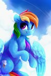 absurdres cloud highres rainbow_dash thefloatingtree
