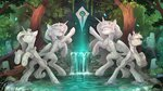 highres princess_cadance princess_celestia princess_luna princess_twilight statue trees twilight_sparkle water waterfall yakovlev-vad