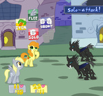 changeling derpy_hooves elslowmo golden_harvest mario_&_luigi super_mario_bros