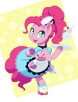 apron clothes dstears equestria_girls ice_cream pinkie_pie rollerskates