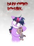 insanity plushie poster smarty_pants toy twilight_sparkle willdrawforfood1