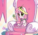 bobdude0 crown flowers scepter sweetie_belle throne