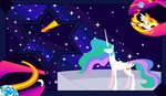 foldawaywings highres princess_celestia stars