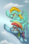 goggles lightning_dust rainbow_dash solid-snivy