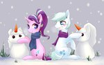 carrot double_diamond phyllismi scarf shipping snow snowman starlight_glimmer