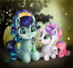 coloratura flowers magic microphone moonlight-ki singing sweetie_belle tree