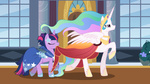 buttercupsaiyan dress gala_dress highres mamandil princess_celestia twilight_sparkle vector