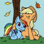 applejack autumn hugs megasweet rainbow_dash