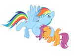 highres mrlolcats17 noogie rainbow_dash scootaffection scootaloo transparent vector