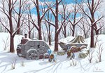 eriada1992 forest highres scenery snow snowing the_great_and_powerful_trixie winter zecora