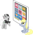 andy_warhol art derpy_hooves highres masemj muffin praiser_pan vector