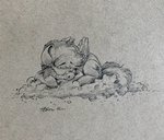 absurdres cloud highres rainbow_dash sleeping th3ipodm0n traditional_art