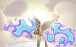 armor nightmare nightmare_celestia princess_celestia thestoicmachine wallpaper