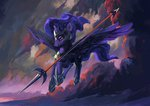 absurdres armor highres hunternif princess_luna spear weapon