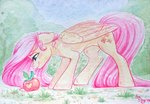 amishy apples caterpillar fluttershy highres traditional_art