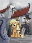 applejack background_ponies bakuel bindle filly manehattan