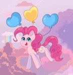 balloon cloud highres pinkie_pie whiskyice