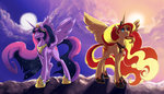 absurdres alicorn highres overlordneon princess_twilight sunset_shimmer twilight_sparkle