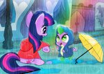 dsana rain spike twilight_sparkle umbrella