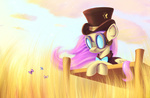 bow_tie butterfly fluttershy goggles hat steampunk subjectnumber2394 tophat