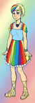 dress gala_dress guttyworks humanized rainbow_dash
