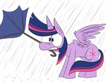 karpet-shark princess_twilight rain twilight_sparkle umbrella wind