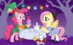 10/6 alice alice_in_wonderland angel crossover drchrissy fluttershy mad_hatter march_hare pinkie_pie