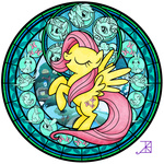 akili-amethyst bird butterfly duck ferret fluttershy rabbit stained_glass transparent wasp
