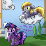 ask ask-fillytwilight bubble cloud derpy_hooves the-sweet-queen twilight_sparkle