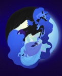 akogare contrast nightmare_moon princess_celestia princess_luna space