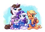 american_football applejack hondo_flanks jersey rarijack-daily rarity sweetie_belle whitediamonds