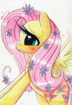 flowers fluttershy painting prettypinkp0ny watercolor