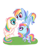 g1 generation_leap otterlore rainbow_dash starshine sunlight_(g1) transparent
