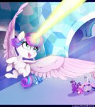 flying highres lionisminor magic pinkie_pie princess_cadance princess_flurry_heart princess_twilight shining_armor twilight_sparkle