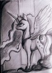 absurdres highres ponsce princess_luna traditional_art