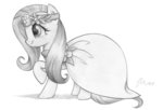 absurdres clothes dress flowers fluttershy flutterstormreturns highres traditional_art