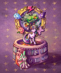 book elements_of_harmony golden_oak_library highres music_box royal-serpent spike tree twilight_sparkle