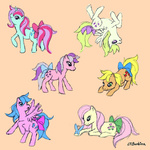 applejack_(g1) donkeyinthemiddle firefly g1 posey sparkler surprise twilight