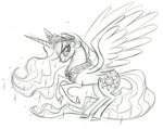 fim_crew lauren_faust princess_celestia production_art sketch