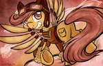 clothes goggles highres jacket leekfish scootaloo steampunk