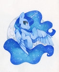 highres princess_luna traditional_art zoliklispp